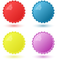 Set of Circural Icons Pseudo 3D Templates vector image vector image