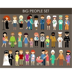 Set of people of different professions and ages vector image vector image