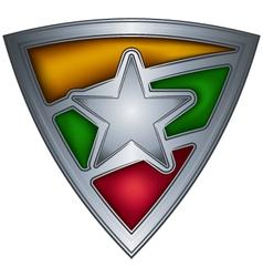 steel shield with flag burma vector image