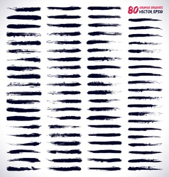 80 GRUNGE BRUSHES vector image vector image