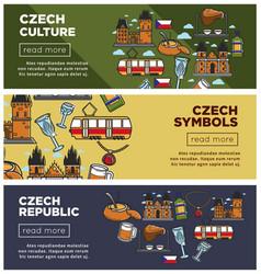 czech republic culture and symbols internet web vector image