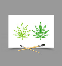 drawing hemp drug lesson vector image