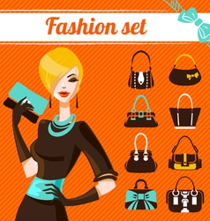 Fashion woman set vector