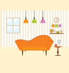 living room with sofa furniture vector image vector image