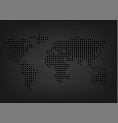 metal holes world map vector image