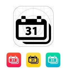 Dates icon vector image vector image