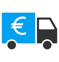Euro Truck Flat Icon vector image vector image
