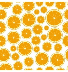 half color orange fruits seamless pattern eps10 vector image
