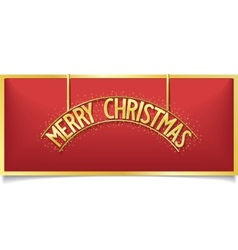 Red Christmas design lettering on signboard vector image