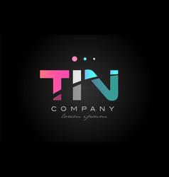 tin t i n three letter logo icon design vector image vector image