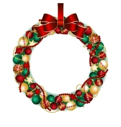 Christmas wreath decoration vector image vector image