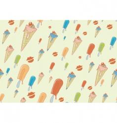 cool hand drawn ice creams vector image vector image