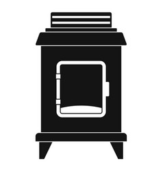 Old oven icon simple style vector