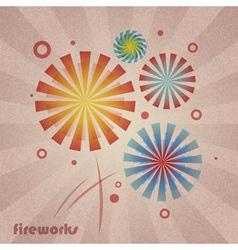 retro holiday firework vector image