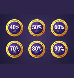 set of the isolated medals badges stamps for vector image vector image