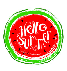 Summer design element with watermelon doodle vector