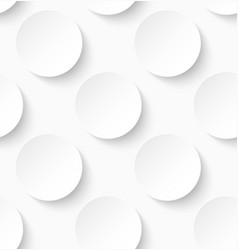 White paper seamless circle pattern background vector image vector image