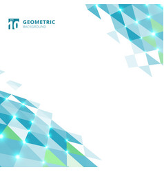 Abstract blue triangles geometric perspective vector