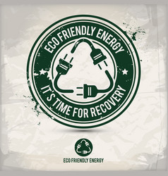 alternative eco friendly energy stamp vector image
