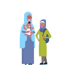 Arabic grandmother with grandchildren multi vector