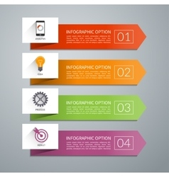 Arrow design elements for infographics vector