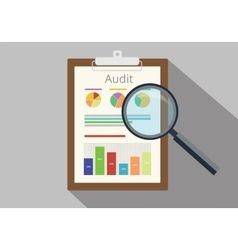 audit graph data analysis result vector image