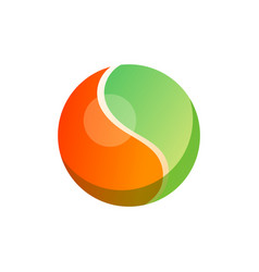 ball of two colors rounded vector image