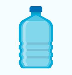 Big blue plastic bottle of fresh potable water vector