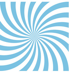 Blue and white candy abstract spiral background vector