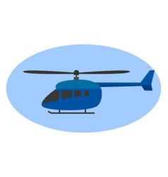 blue helicopter on white background vector image