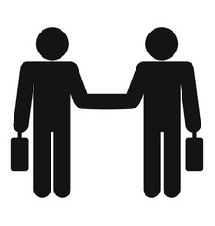 Businessman handshake icon simple style vector