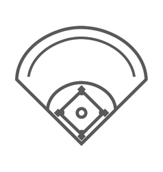 Camp diamond baseball sport vector