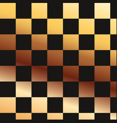 checkered abstract golden and black pattern vector image