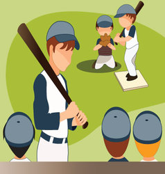 Children-playing-baseball vector