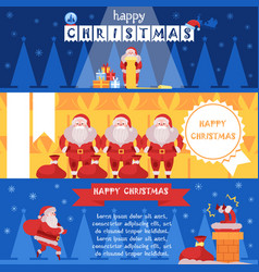 christmas set of banners with vector image