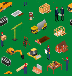 construction building concept seamless pattern vector image
