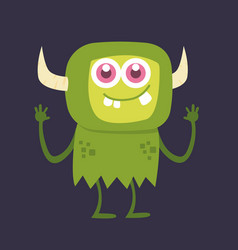 cute monster cartoon character 002 vector image