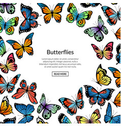 Decorative butterflies background vector