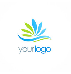 ecology water logo vector image