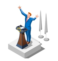 Election Infographic Political Debate Isometric vector image
