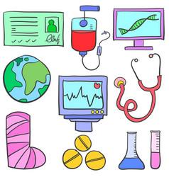 Element medical health of doodles vector