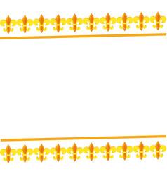 fleur de lis frame vector image