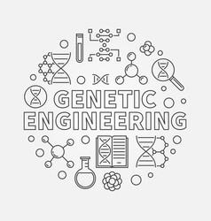Genetic engineering round outline vector