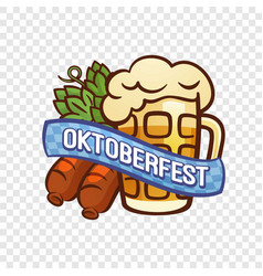 german oktoberfest logo cartoon style vector image