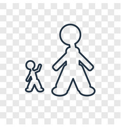 Giant man concept linear icon isolated on vector