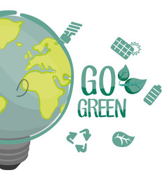 Go green environment bulb panel recycle vector