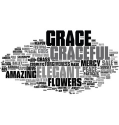 Grace word cloud concept vector