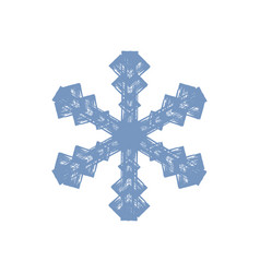 grunge isolated snowflake vector image