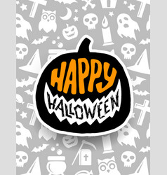 happy halloween banner scary design vector image