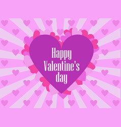 happy valentines day festive background for vector image